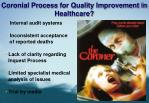 coronial process for quality improvement in healthcare