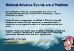 medical adverse events are a problem