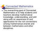 connected mathematics