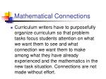 mathematical connections