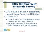 hda employment network survey