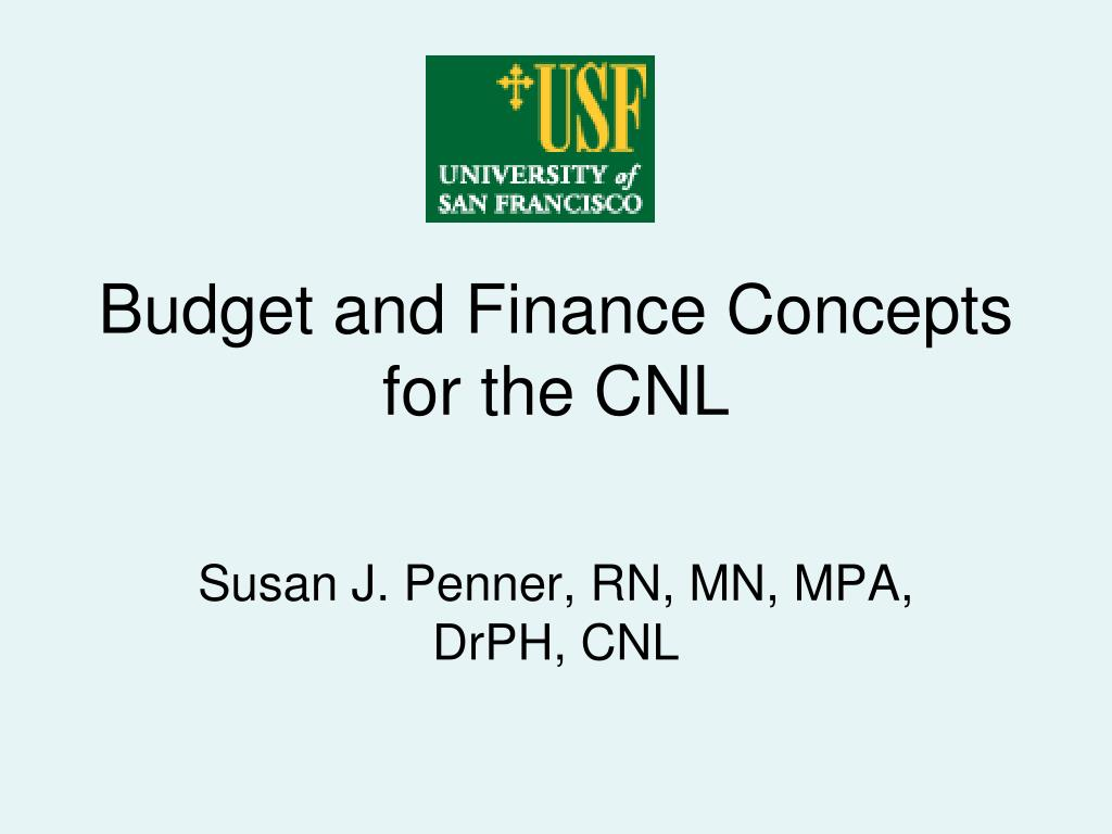 budget and finance concepts for the cnl l.