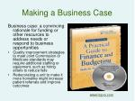 making a business case