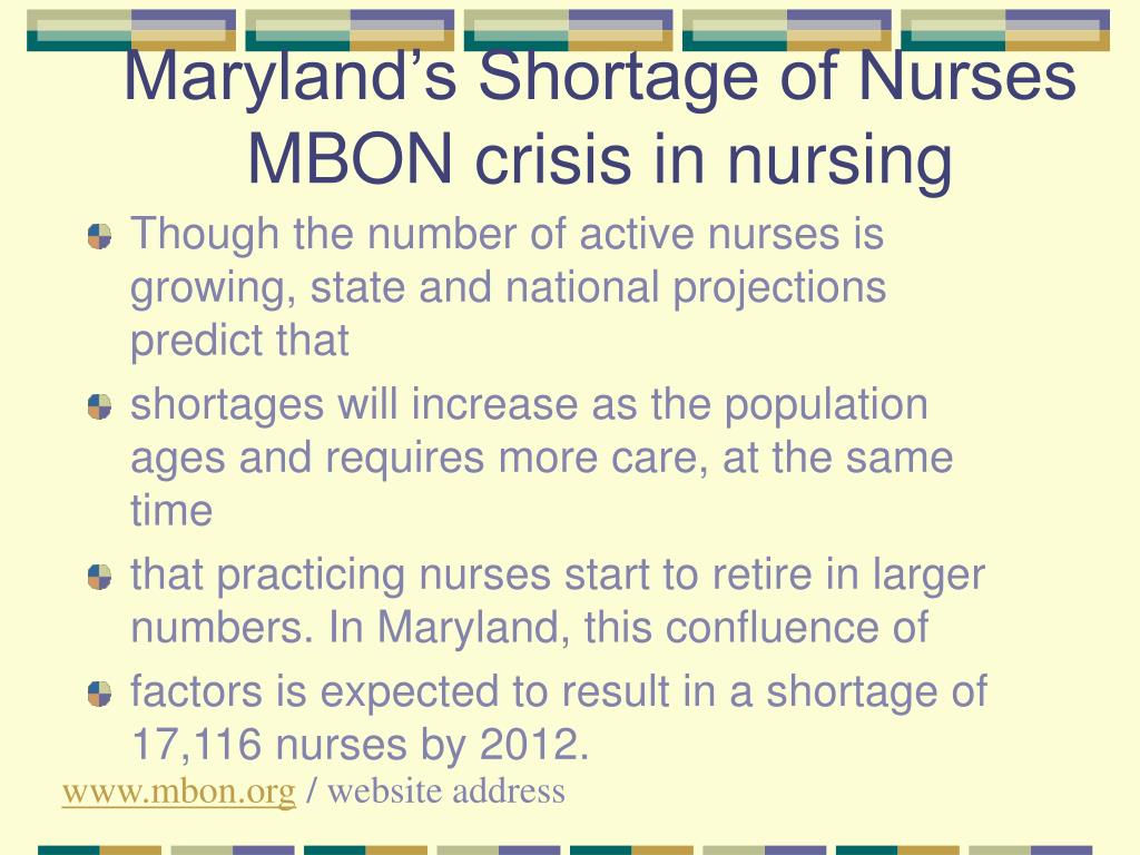 the solution to the nursing shortage crisis Another crisis is about to grip our country as we attempt to get a over our finances, a nursing shortage is beginning to effect patient care and seems to be a problem that will plague us for many years to come.