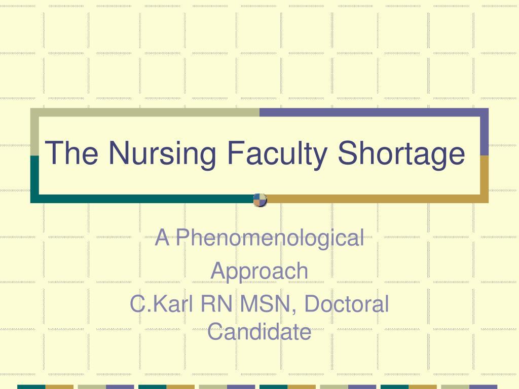 the nursing faculty shortage l.