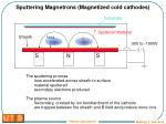 sputtering magnetrons magnetized cold cathodes