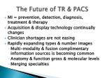 the future of tr pacs