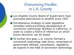 overcoming hurdles in l a county