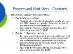 progress and next steps contracts
