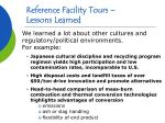 reference facility tours lessons learned