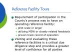reference facility tours
