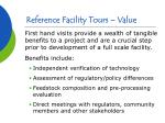 reference facility tours value