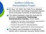 southern california demonstration project