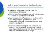 what are conversion technologies5