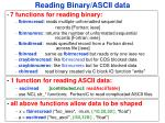 reading binary ascii data