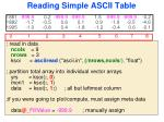 reading simple ascii table