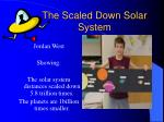 the scaled down solar system