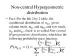 non central hypergeometric distribution