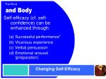 changing self efficacy