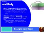 example from sport