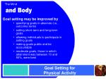 goal setting for physical activity