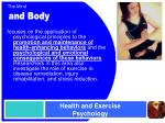 health and exercise psychology