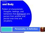 personality a definition