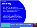 traits vs states athletes