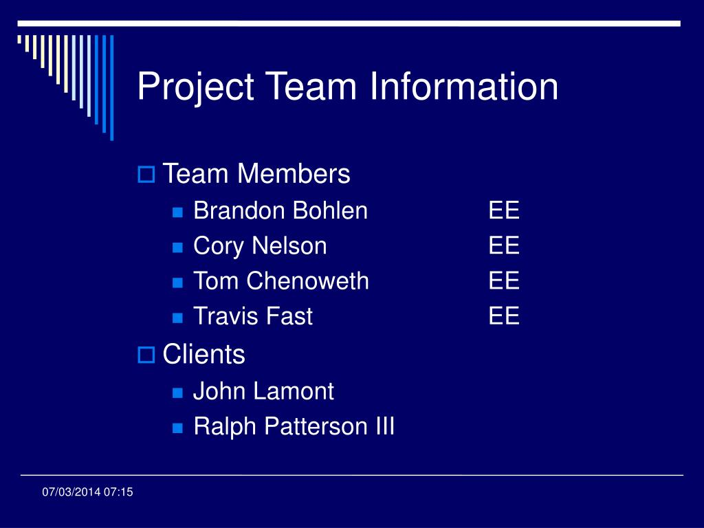 Project Team Information