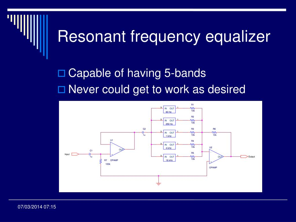 Resonant frequency equalizer