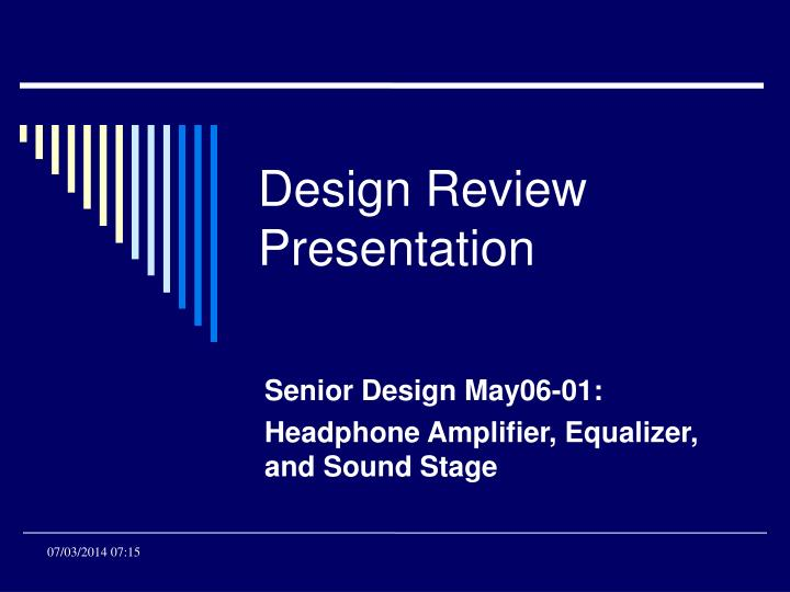 Senior design may06 01 headphone amplifier equalizer and sound stage