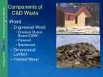 components of c d waste