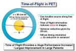 time of flight in pet