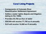 canal lining projects