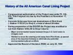 history of the all american canal lining project