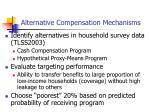 alternative compensation mechanisms