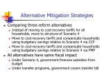 alternative mitigation strategies