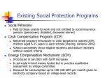 existing social protection programs