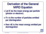 derivation of the general mird equation