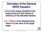 derivation of the general mird equation174