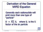 derivation of the general mird equation176