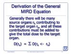 derivation of the general mird equation177