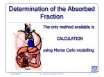 determination of the absorbed fraction