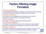 factors affecting image formation135