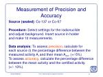measurement of precision and accuracy