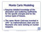 monte carlo modeling
