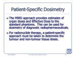 patient specific dosimetry