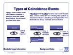 types of coincidence events