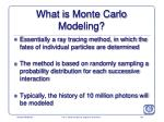 what is monte carlo modeling