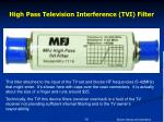 high pass television interference tvi filter